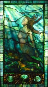"Pearl Diver window | 34"" x 61"""